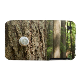 Thermostat on a tree in a forest iPhone 3 covers
