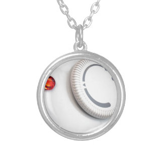 Thermostat Silver Plated Necklace
