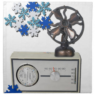 ThermostatHeaterFanSnowflakes052215 Napkin