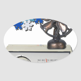 ThermostatHeaterFanSnowflakes052215 Pegatina Ovalada