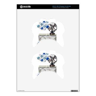 ThermostatHeaterFanSnowflakes052215 Xbox 360 Controller Decal