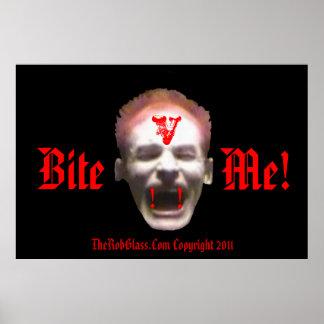 ¡TheRobGlass me muerde! V poster del vampiro del c