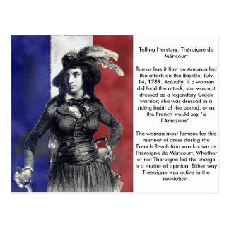 Théroigne de Méricourt French Revolutionary Postcard