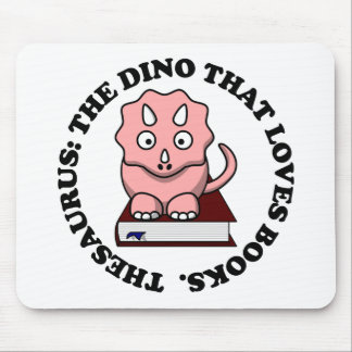 Thesaurus: A Dinosaur Who Loves Reading Books Mouse Pad