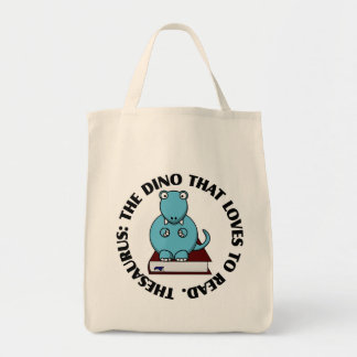 Thesaurus: A Dinosaur Who Loves to Read Books Tote Bag