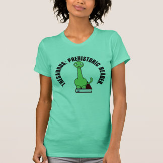 Thesaurus: A Dinosaur Who Was a Prehistoric Reader T-Shirt