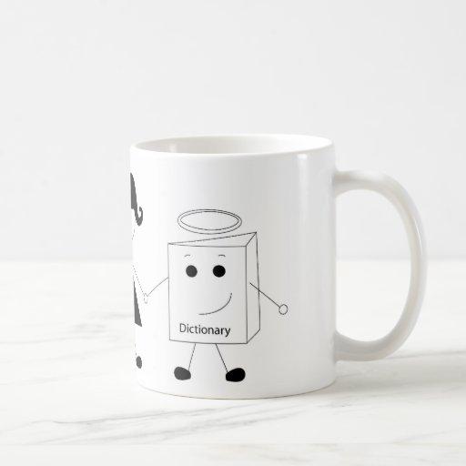 thesaurus and dictionary classic white coffee mug
