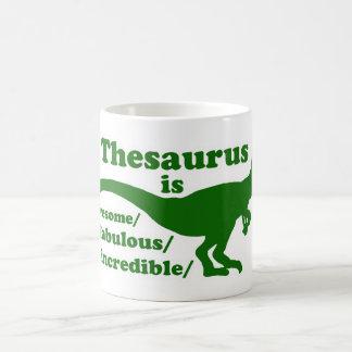 Thesaurus Dinosaur is Awesome Classic White Coffee Mug