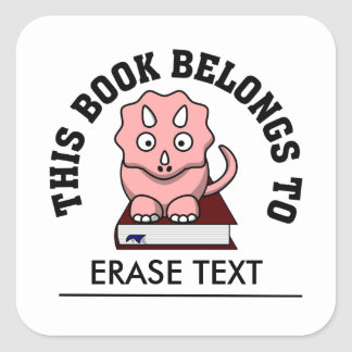 Thesaurus: The Dinosaur that Loves to Read Books Square Sticker