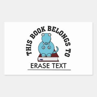 Thesaurus: The Dinosaur that Loves to Read Books Rectangular Sticker