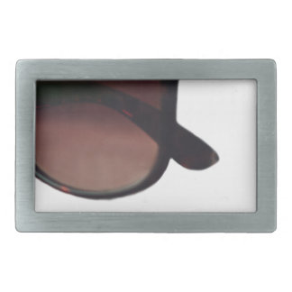 These are note sunglasses rectangular belt buckle