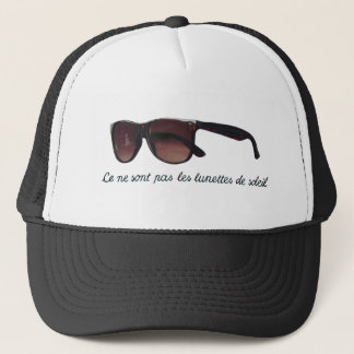 These are note sunglasses trucker hat