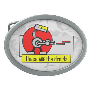 These ARE the droids Oval Belt Buckle