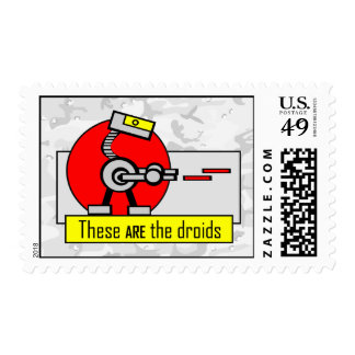 These ARE the droids Postage Stamps