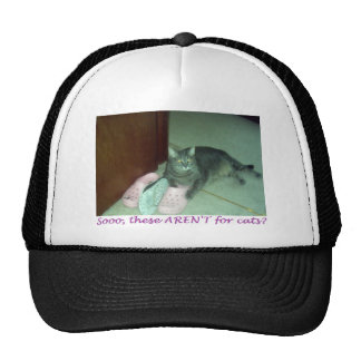 These arent for cats? trucker hat