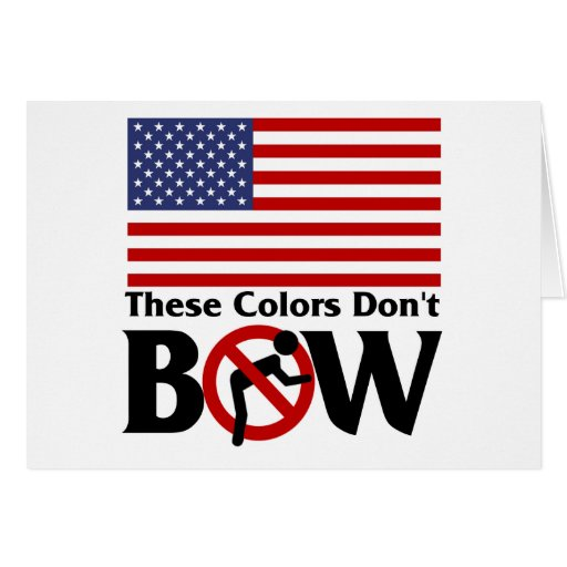 These colors don't Bow! Greeting Card