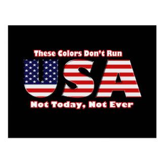 These Colors don't Run America black Postcard