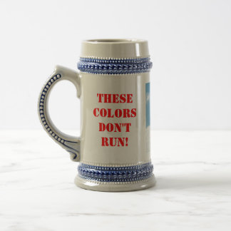 These colors don't run beer stein