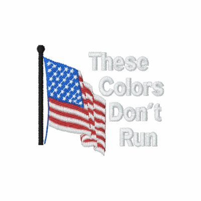These Colors Dont Run Patriotic Military Support Hoodie