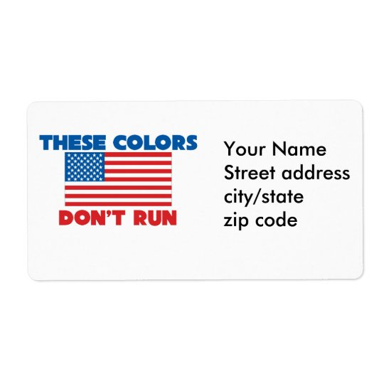 These colors dont run USA Label