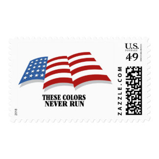 These Colors Never Run postage