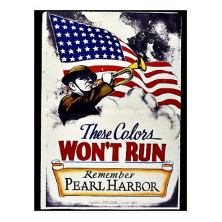 These Colors, Won't Run, Pearl Harbor Post Card