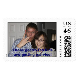 These ghetto-fab kids are getting married! postage stamp