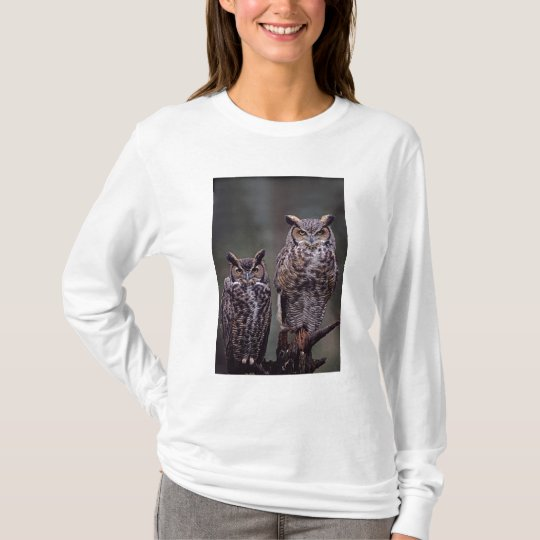 These Great Horned Owls (Bubo virginianus), T-Shirt