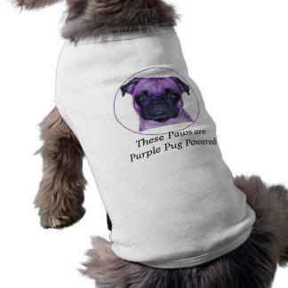 These Paws are Purple Pug Powered T-Shirt