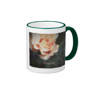 These Quiet Seasons August Rose Ringer Coffee Mug