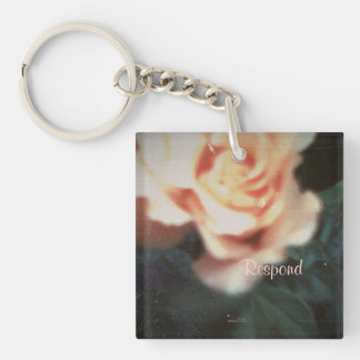 These Quiet Seasons August Rose Single-Sided Square Acrylic Keychain