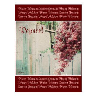 These Quiet Seasons December Berries Postcard