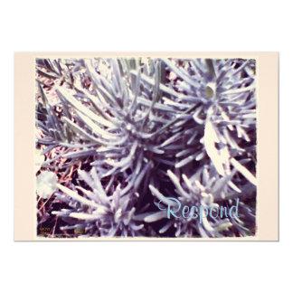 These Quiet Seasons Feburary Lavendar 5x7 Paper Invitation Card