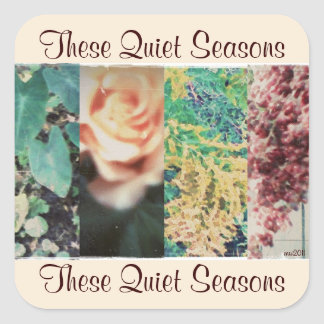 These Quiet Seasons Four Seasons Sticker