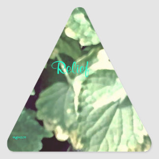 These Quiet Seasons May Hyssop Triangle Sticker