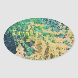 These Quiet Seasons September Wildflowers Oval Sticker