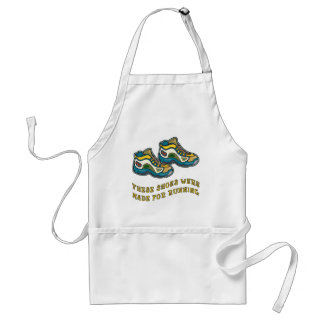 These Shoes Were Made for Running Tshirts Adult Apron