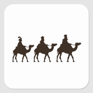 These Three Kings of Orient Are Christmas Drawing Square Sticker