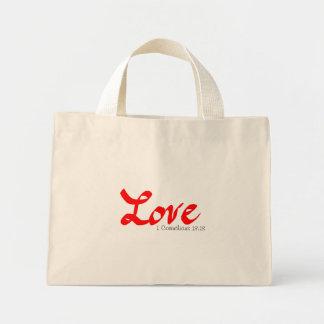 These Three Remain: Love Mini Tote Bag