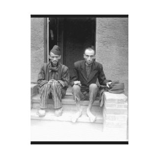 These two staring, emaciated men are_War Image Canvas Print
