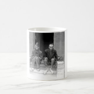 These two staring, emaciated men are_War Image Coffee Mug