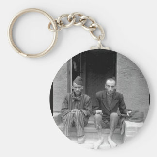 These two staring, emaciated men are_War Image Keychain