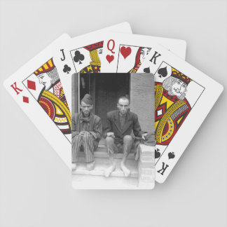 These two staring, emaciated men are_War Image Playing Cards