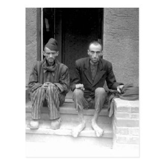 These two staring, emaciated men are_War Image Postcard