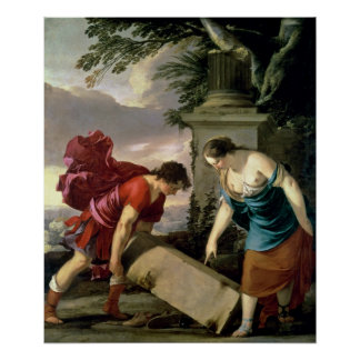 Theseus and his Mother Aethra, c.1635-36 Poster