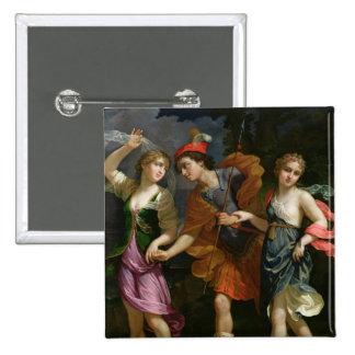 Theseus con Ariadne y Phaedra Pin Cuadrada 5 Cm