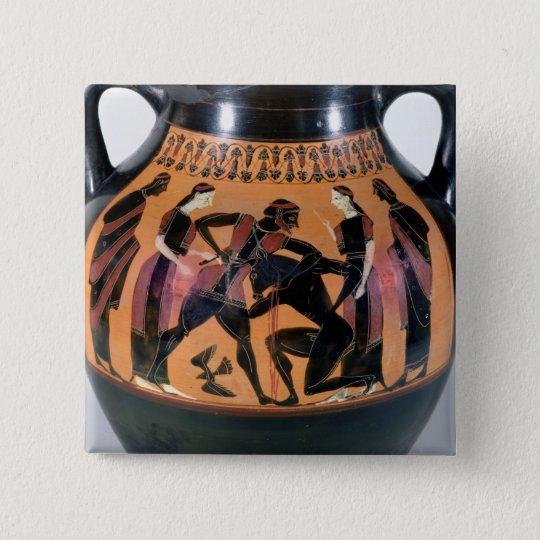 Theseus Fighting the Minotaur Pinback Button