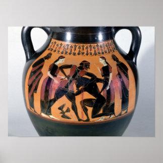 Theseus Fighting the Minotaur Poster