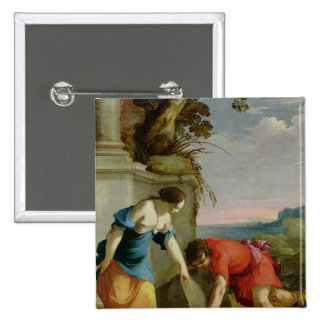 Theseus Finding his Father's Sword, 1634 Pinback Button