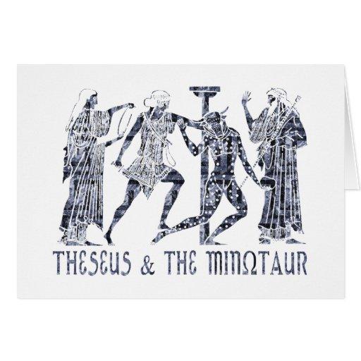 Theseus & The Minotaur Greeting Cards